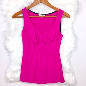 Boden Pink Fitted Hourglass Tank Top